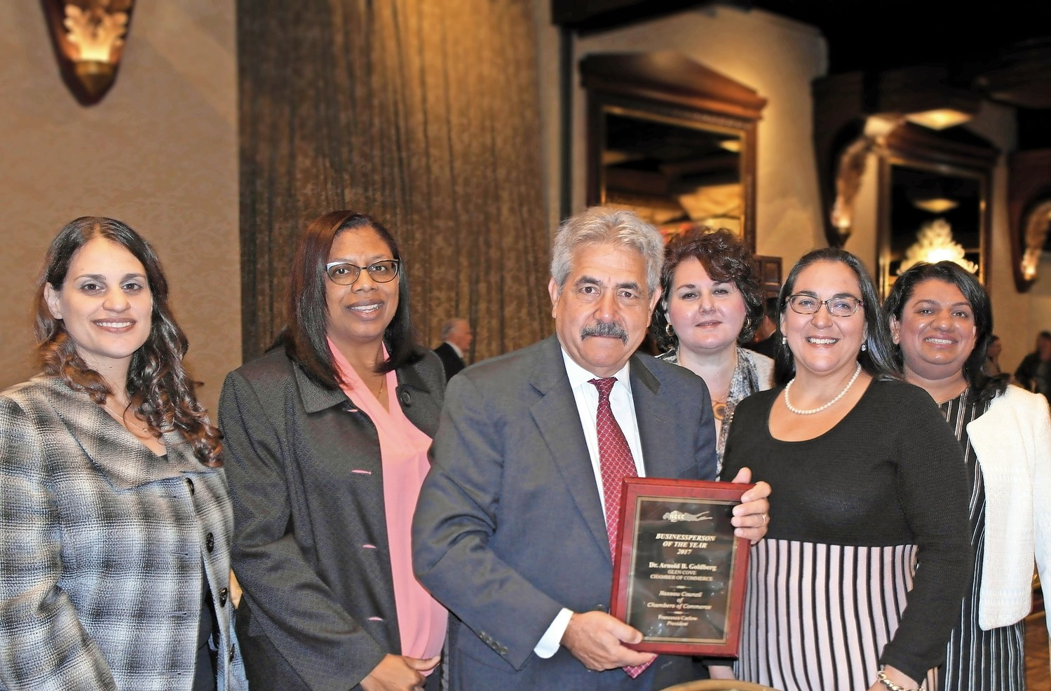 Dr. Arnold Goldberg, the executive director of Harbor Child Care, was chosen by the Glen Cove Chamber of Commerce as Businessperson of the Year.