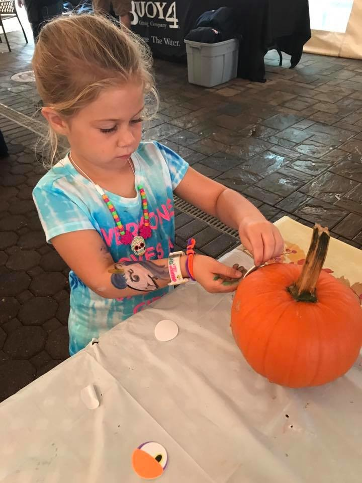 In addition to a pumpkin patch, the fest had arts and crafts and a pumpkin-decorating table.