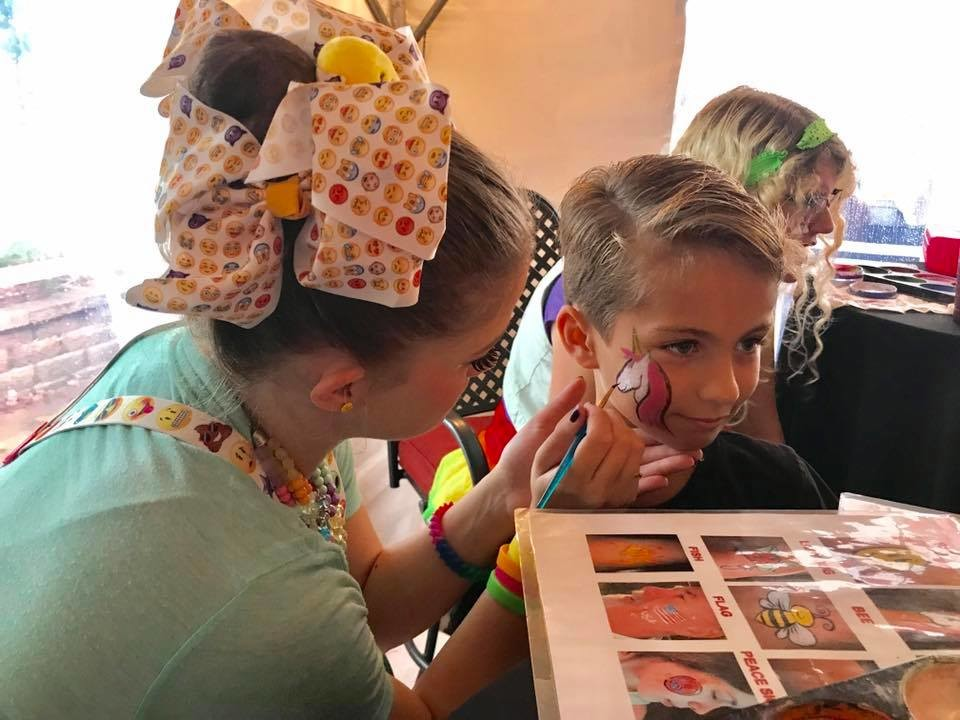 Face painters were on hand to take children's requests.