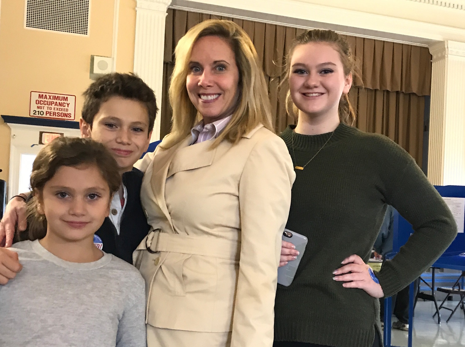Democrat Laura Gillen pulled off a historic victory in the Town of Hempstead on Tuesday night, defeating incumbent Anthony Santino. She declared victory along with Laura Curran, of Baldwin, who won the county executive's seat. Gillen voted at Hewitt Elementary School in her hometown of Rockville Centre early on Tuesday.