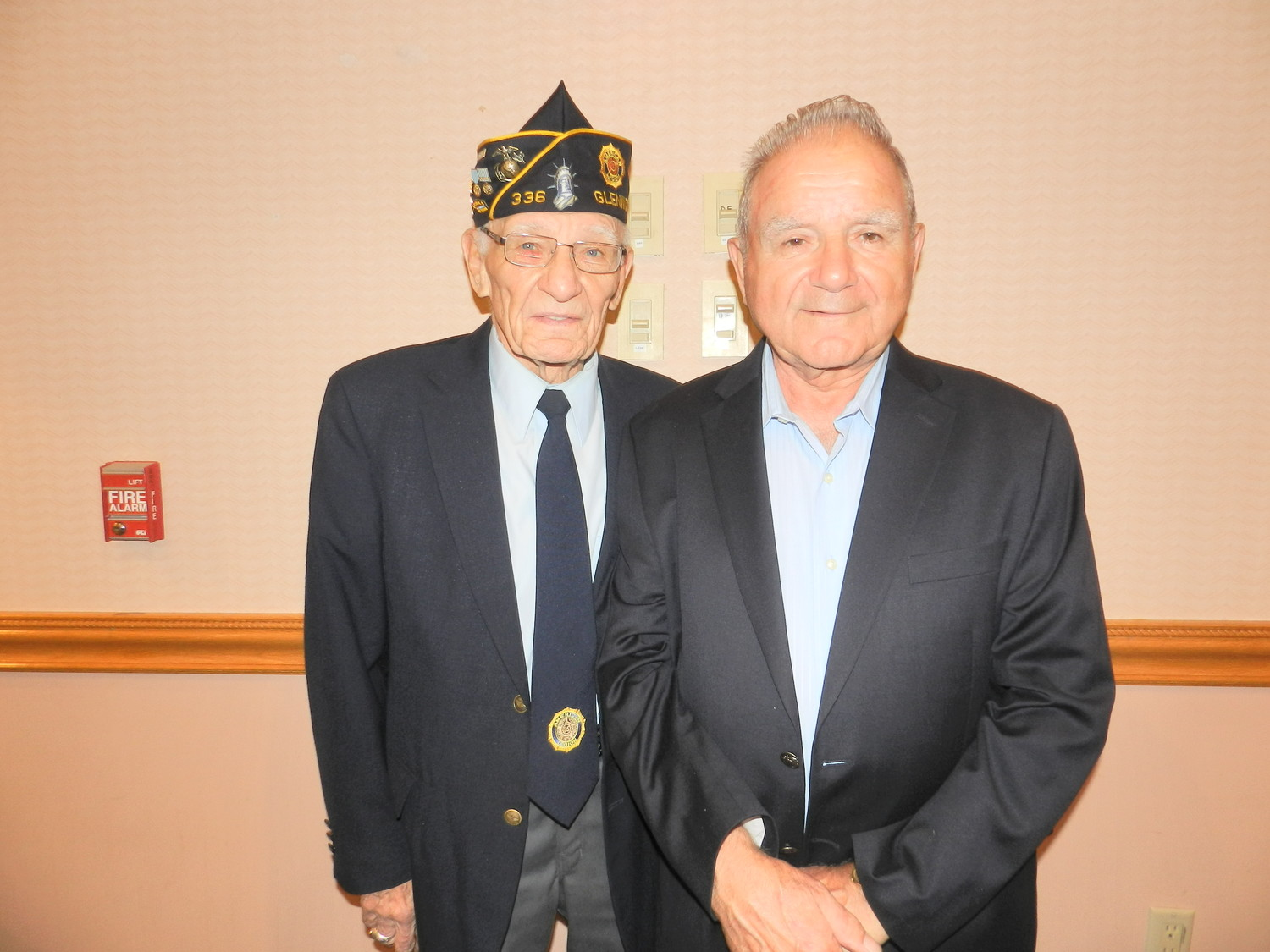 Korean War Veterans Richard Hartney, left, and Rocco Dourso, appreciated the dinner's acknowledgement of past and present servicemen.