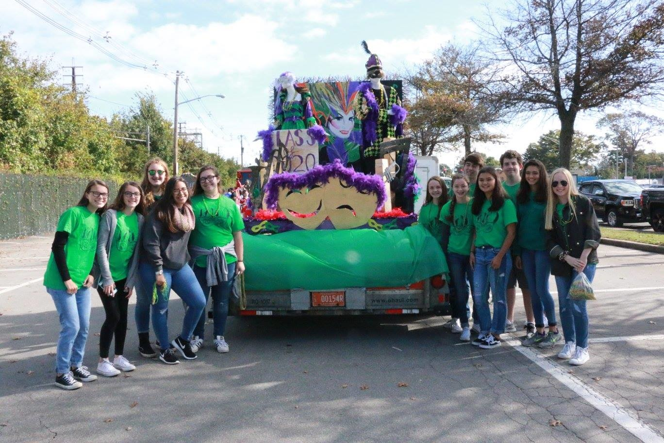 Sophomores were proud of their self-proclaimed messy, over-the-top Mardi Gras float.