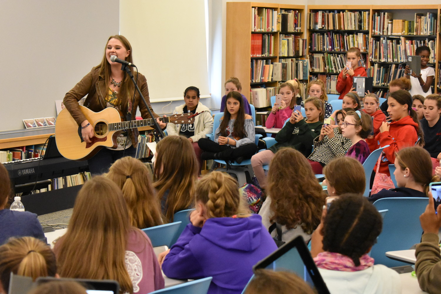 Lizzie Sider, a budding country pop singer, stopped by South Side Middle School on Nov. 2 as part of her nationwide bullying prevention campaign.