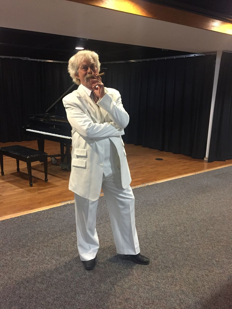 Rob Alvey brings Samuel Clemens (aka Mark Twain) to life in his act.