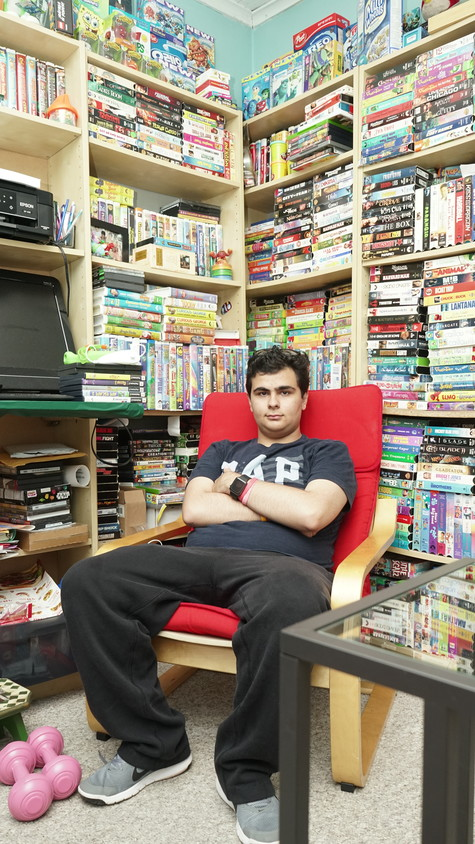 Eren Basank, who is on the autism spectrum, is an avid movie fan with a collection of roughly 2,000 VHS tapes. The 17-year-old dreams of movie theater chains replacing empty storefronts.
