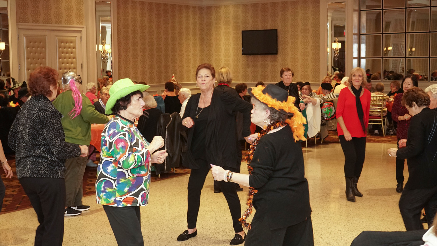 Connie G, center, busted a move on the dance floor.