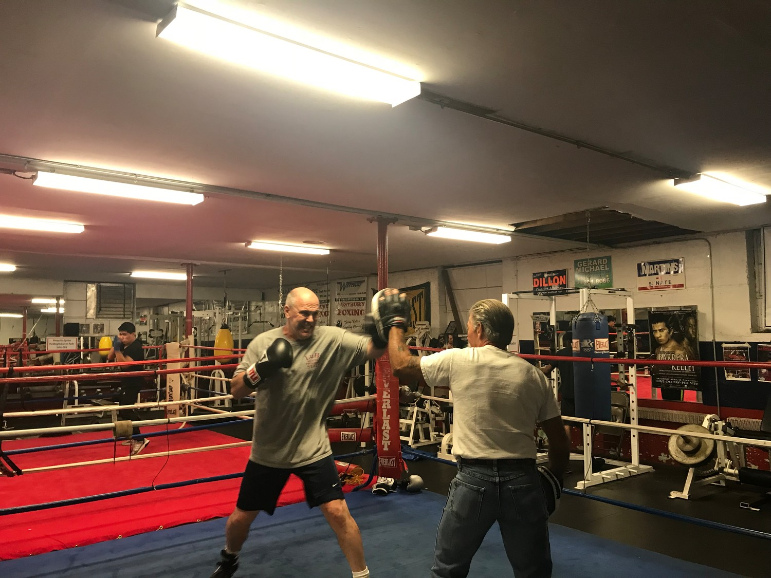 "Lynbrook resident Ed ""Formerly Fast Eddie"" Parry, 60, will step into the ring to box at the Long Island Fights for Charity event on Nov. 20 at the Huntington Hilton."