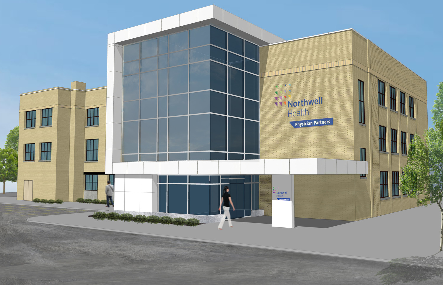 A rendering of the new Northwell facility in Lynbrook, which will be ready in 2018.