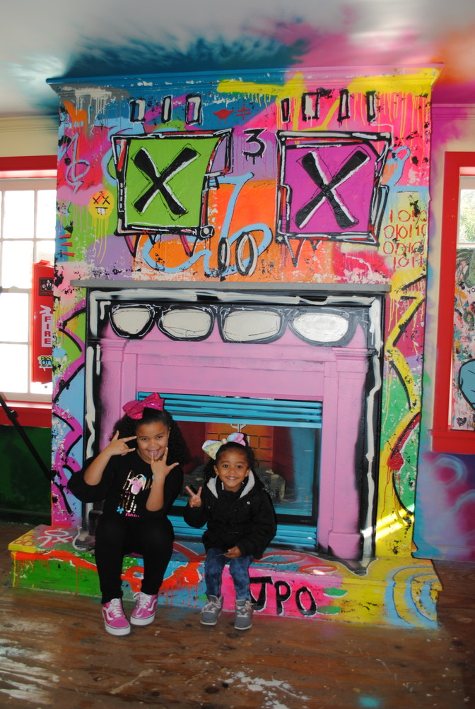 Sisters A'aliyah and Ava Jackson had fun exploring the colorful First City Project house during its second public event on Nov. 10.