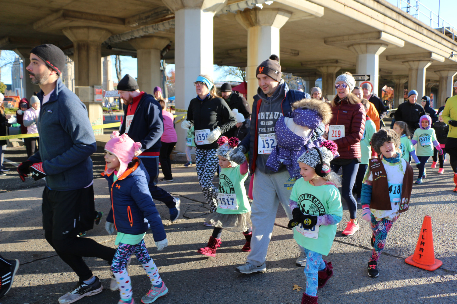 Rockville Centre racers fought the cold for the village's 10K, 5K and one-mile Family Fun Run last Saturday.