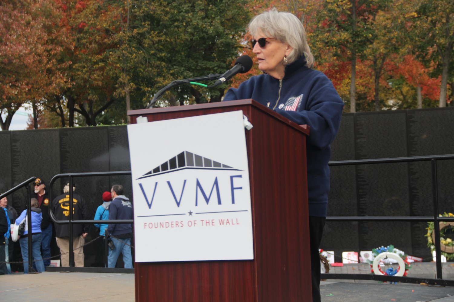 Barbara Horn, a Freeport native and current Long Beach resident, took part  in the 35th annual reading of names at the Vietnam Veterans Memorial in Washington, D.C., on Nov. 10.