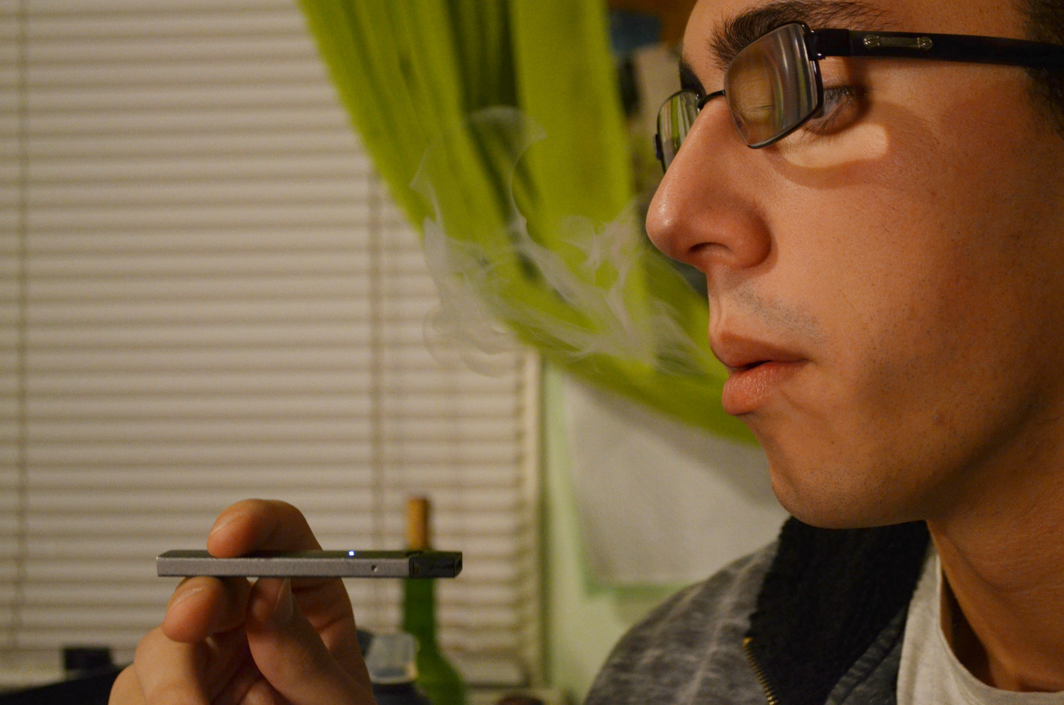 Tyler Calabrese, 20, of Merrick, used an e-cigarette. Although the legal age to buy tobacco and liquid nicotine products differs across Nassau County, the Town of Hempstead raised the legal age from 18 to 21 earlier this year. The City of Long Beach aims to follow in its footsteps.