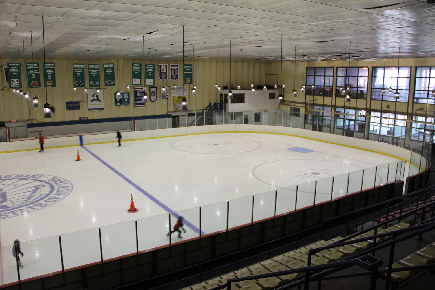 The city hired a company to renovate the bathrooms and locker rooms in the Recreation Center's Ice Arena.