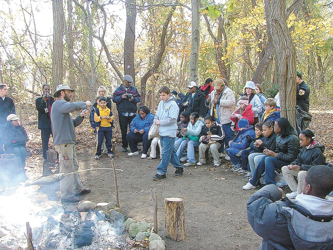 Gather 'round the fire and share in a Native American celebration of the  harvest season.