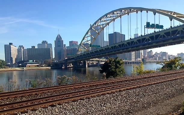 Bridges fan out from Pittsburgh's downtown in nearly all directions.