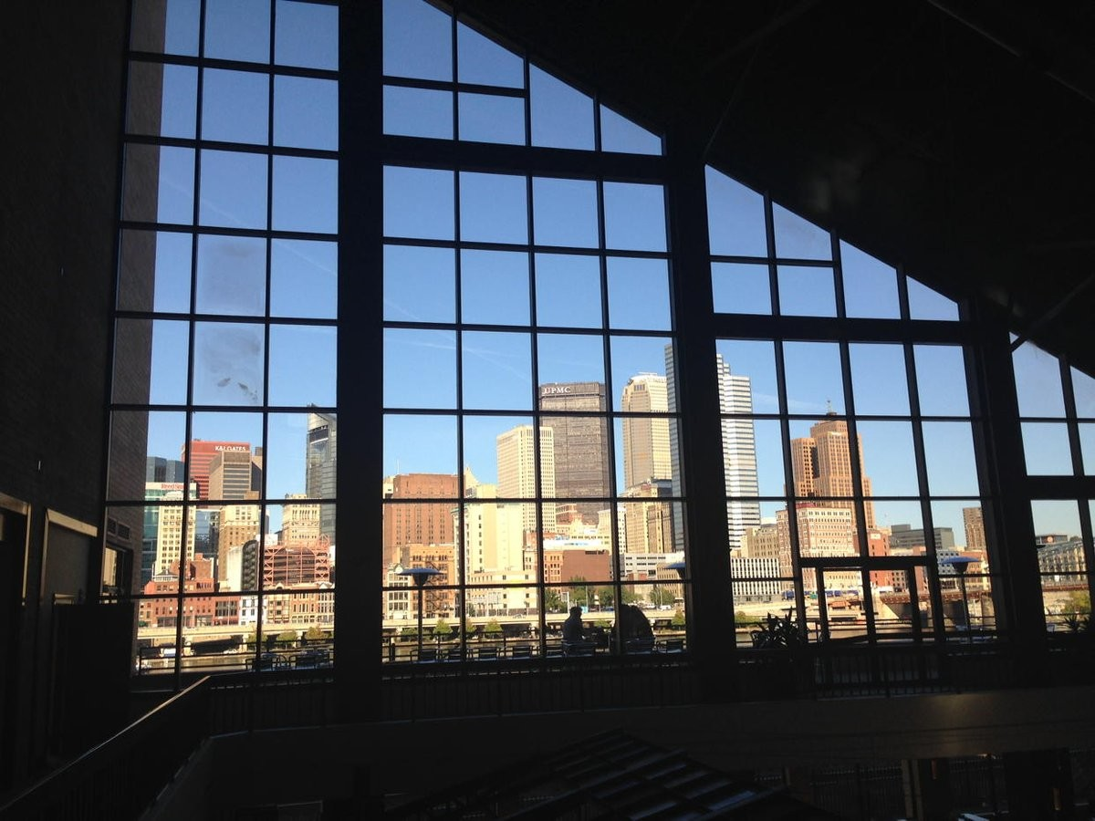 A view of downtown Pittsburgh from the Sheraton at Station Square.