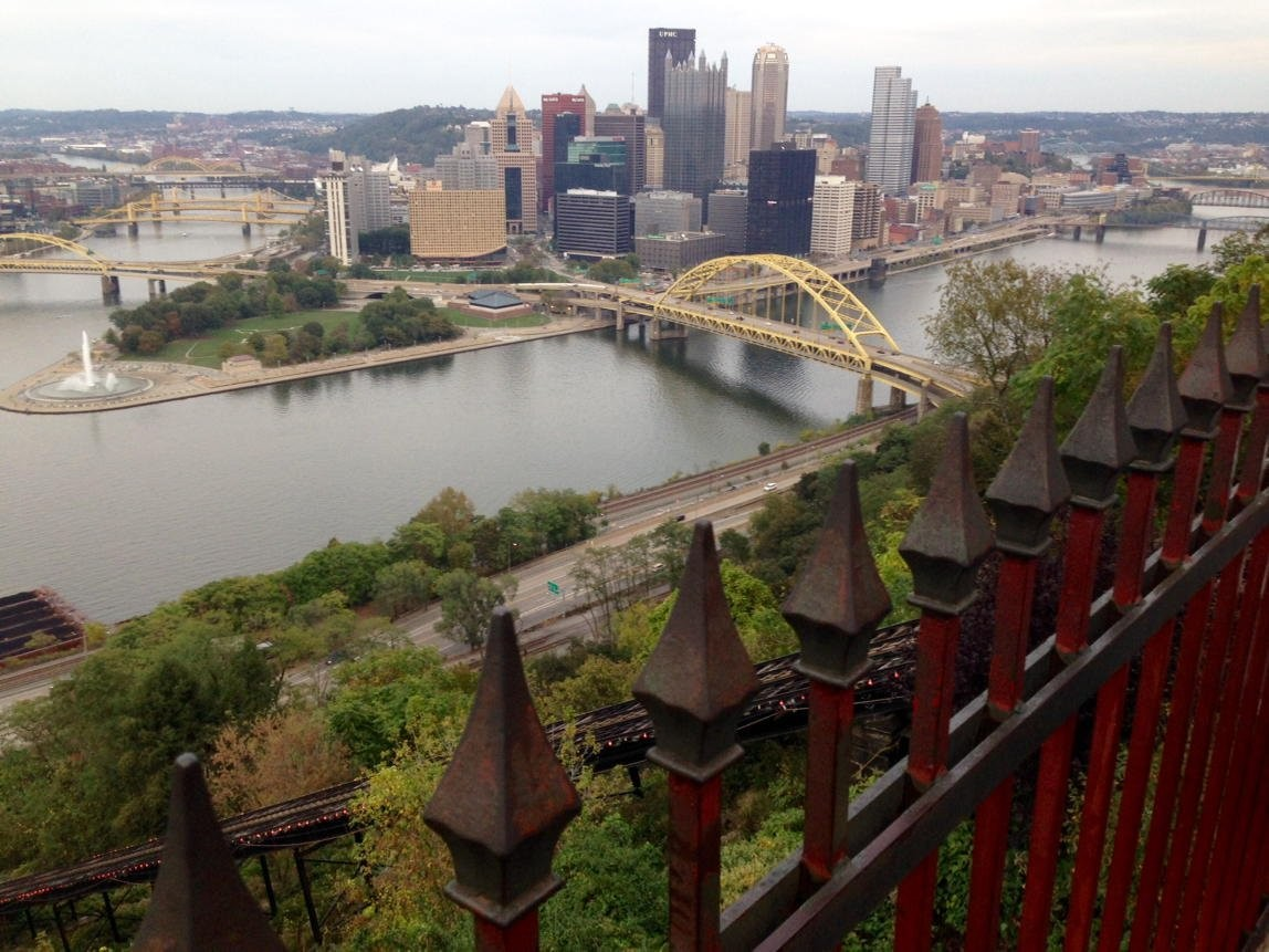 A view of Pittsburgh from above.