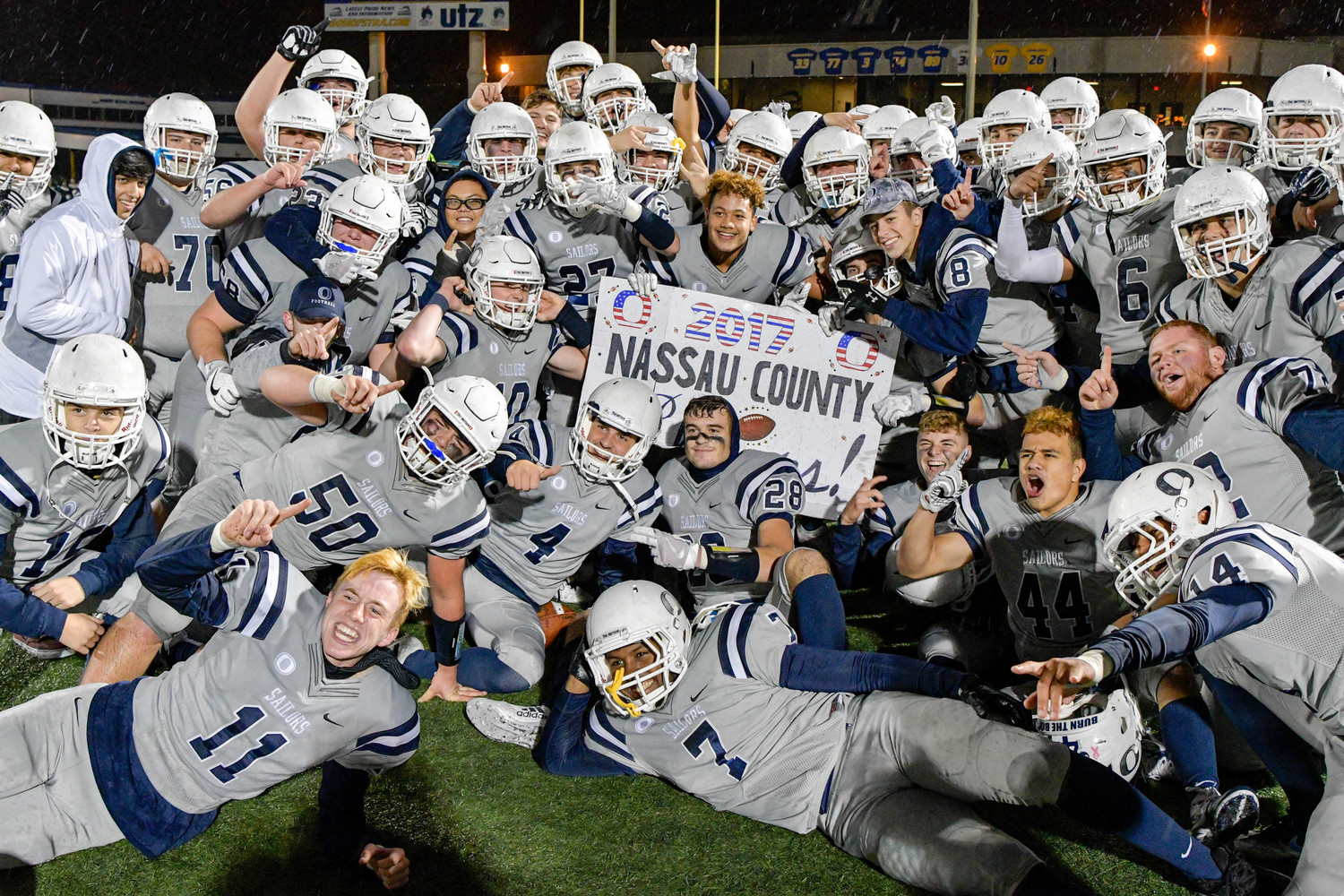 Oceanside blanked Freeport, 17-0, to capture its first Nassau County football title since 1977.