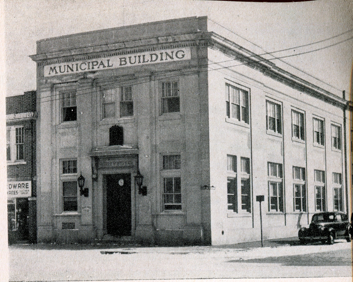 The building, constructed in 1926 as the first Village Hall, had been occupied by various businesses ever since the late '50s, when the current Village Hall was built.