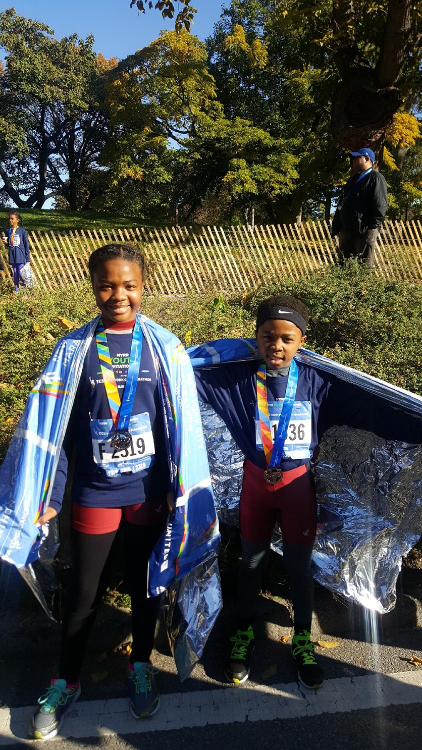 Abigail and Adam Jefferies ran in the junior New York Marathon last year, and plan to do so again on Nov. 6.