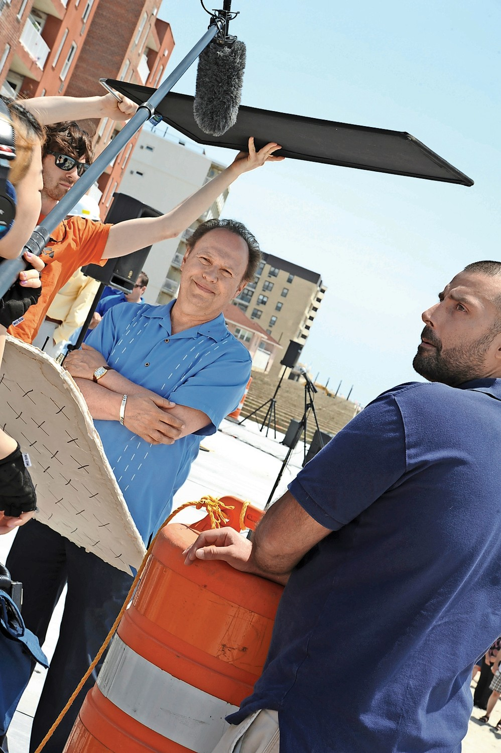 Billy Crystal, pictured on the boardwalk in 2013, has been filming scenes in Long Beach for a new comedy that's set to be released next year.