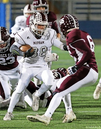 Mepham's Anthony Paolino had five catches for 66 yards in last Friday's loss to Garden City in the Nassau Conference II championship game at Hofstra.