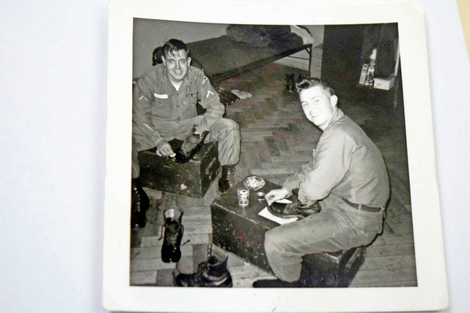 William Hoehn shined his boots during downtime while on border patrol in West Berlin in 1966. The Seaford native told the Herald this week how he was drafted into the Army at the height of the Vietnam War.