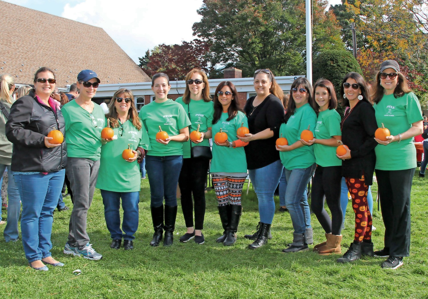Volunteers and parishioners at Wantagh Memorial Congregational Church raised money for hurricane victims in Puerto Rico at its harvest fair on Oct. 28. From left, Jaime Becker, Linda Arbitelli, Trudy Chen, Nicole Sobey, Helen Battillo, Jennifer Gaglio, Theresa Gavilanes, Renée Amatulli, Nicole Amatulli, Dina Ciaramella and Sara Vasilakos, director of the Pixie Nursery School.