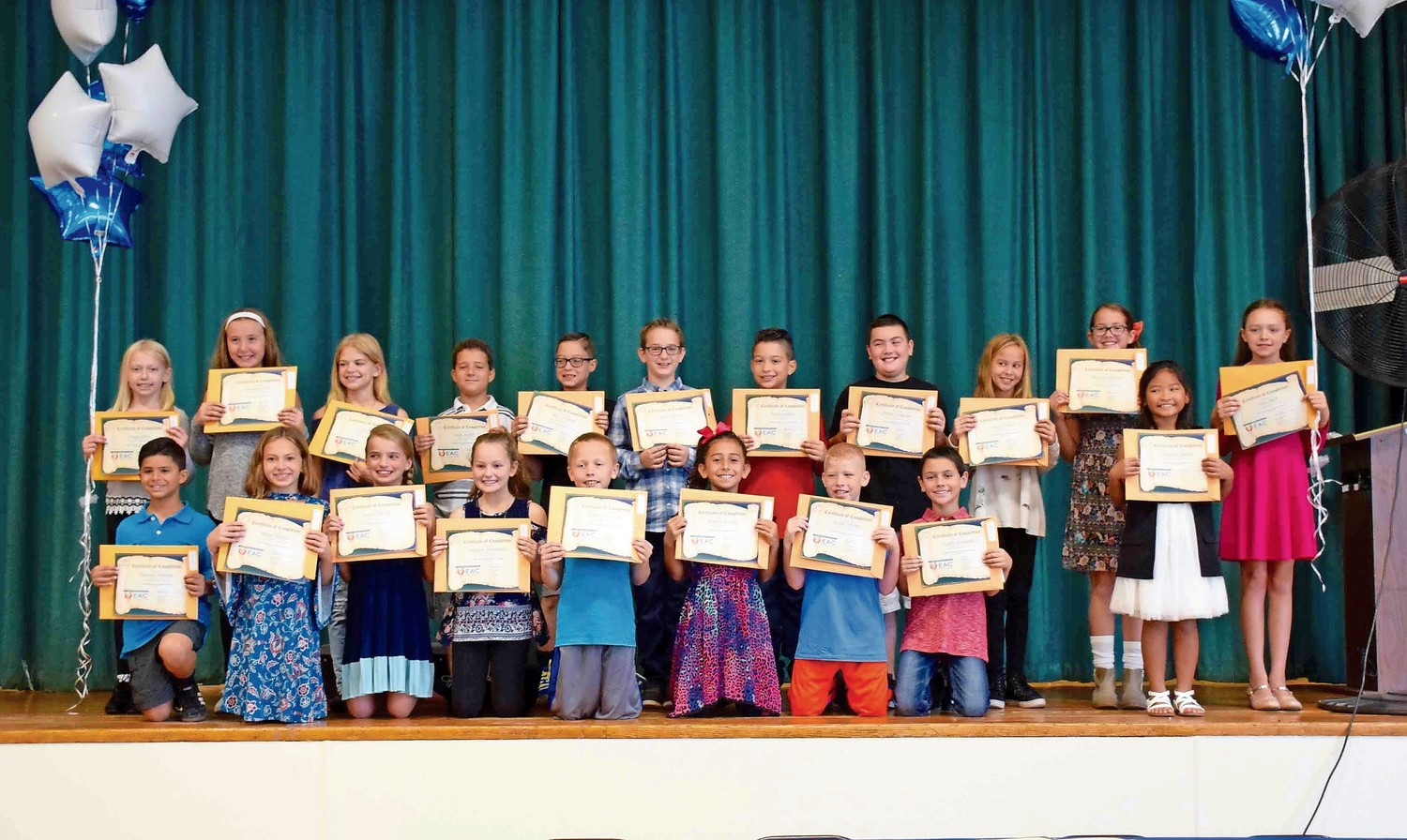 20 students from East Broadway Elementary School were named peer mediators during a ceremony on Oct. 13.