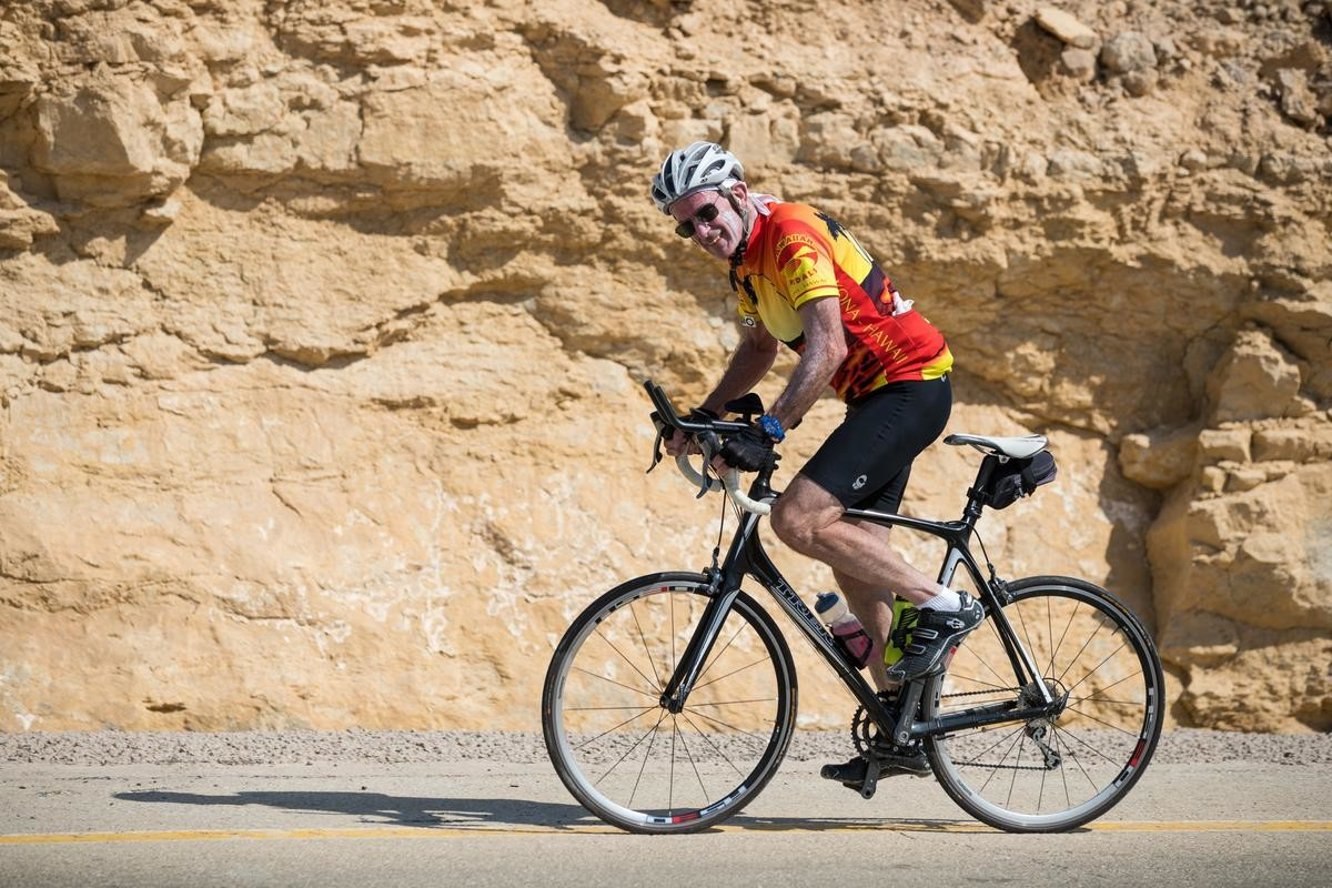 Blaine Land, of Merrick, joined a group of more than 30 supporters of the IDF, as well as IDF veterans on a bike tour across Israel in October.
