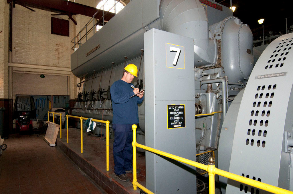 Tom Yannelli, an assistant oiler, in 2012, checked one of the Rockville Centre power plant's eight generators.