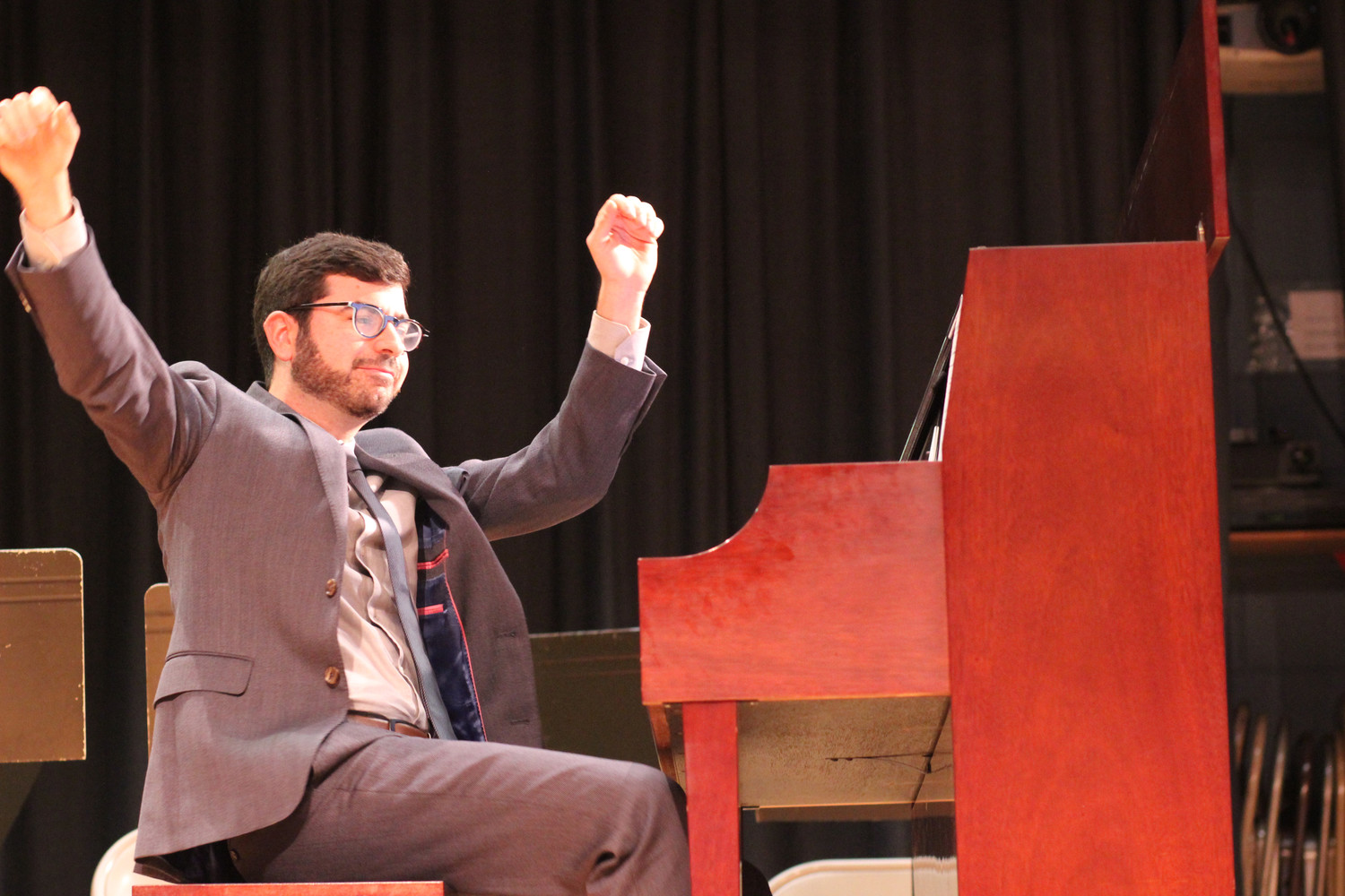 "Michael Brown, one of Rothgarber's former students, performed ""Blare"" during the tribute."