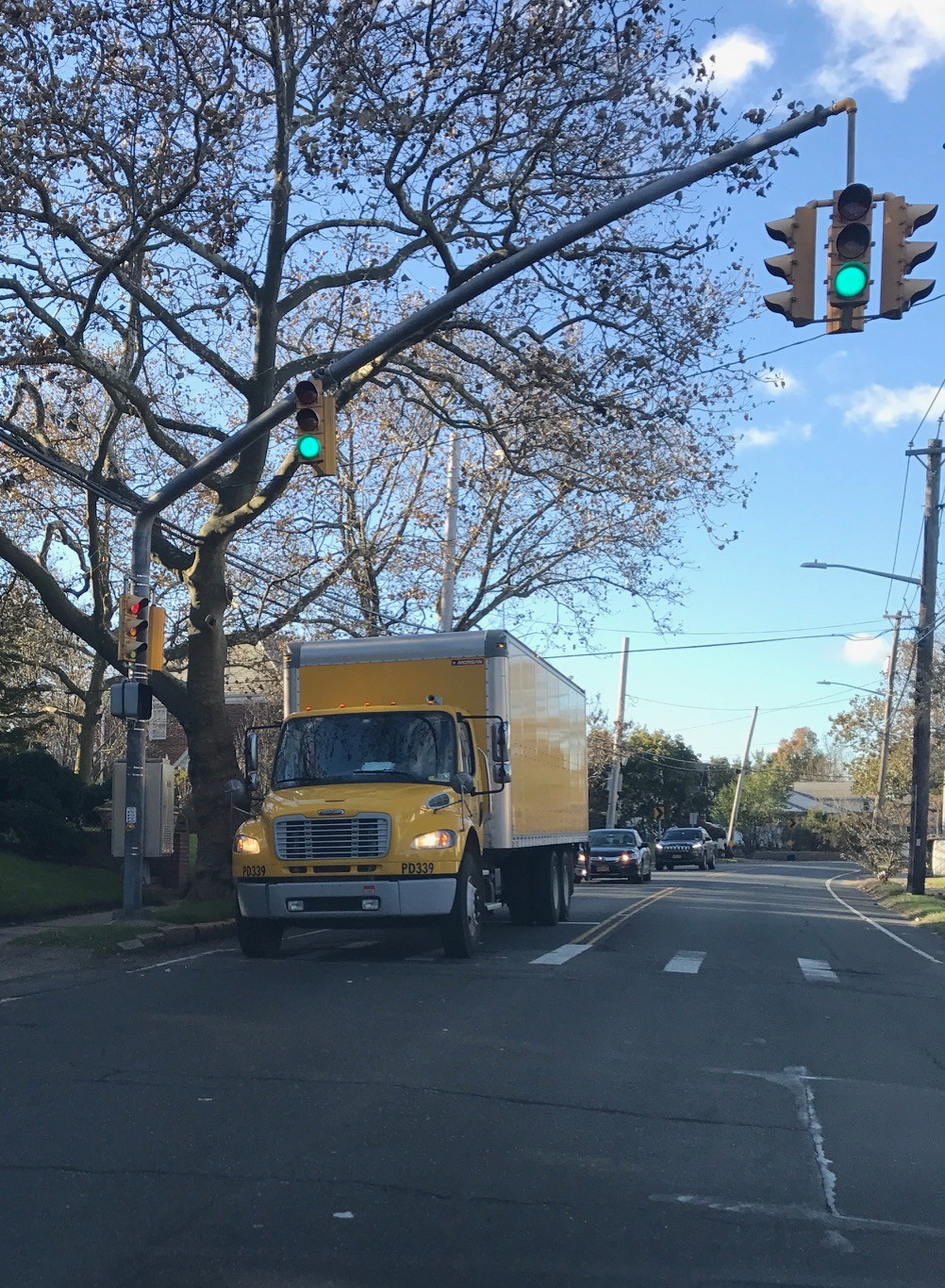 Trucks often use West Broadway as a shortcut through the Five Towns.