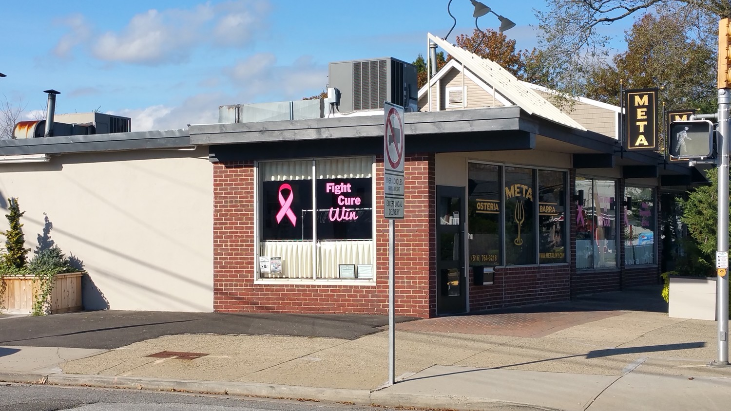 Oceanside Italian eatery Meta Osteria & Barra is holding its annual breast cancer fundraiser on Nov. 27 benefitting the Hewlett House.