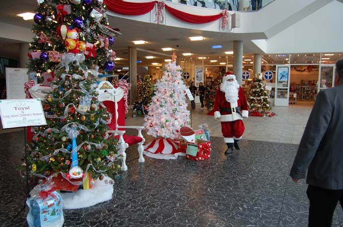 Cradle of Aviation Museum is filled with holiday glitz this weekend as it welcomes the Long Island Festival of Trees. The event features entertainment, crafts, and varied activities, in addition to the creative display of trees.