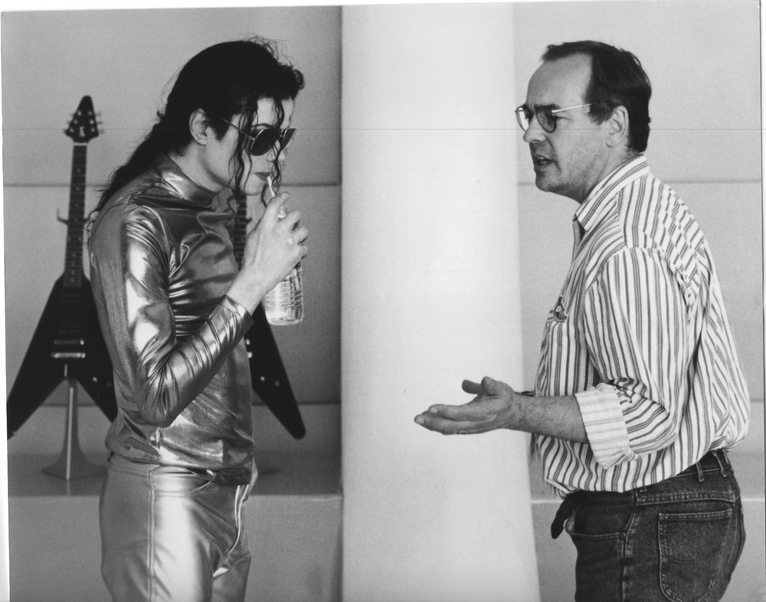 Rockville Centre resident Dan Beck with Michael Jackson, whom he worked with on more than a dozen music videos while at Epic Records.