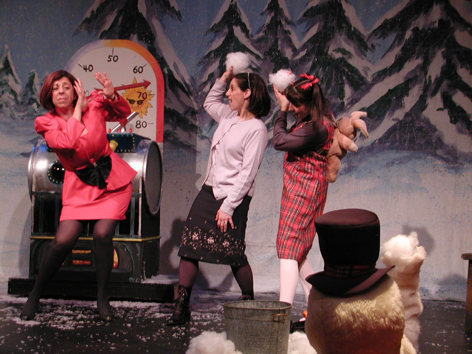 "That jolly snowman is back — in BroadHollow Theatre Company's staging of ""Frosty the Snowman"" in Elmont on Saturday."