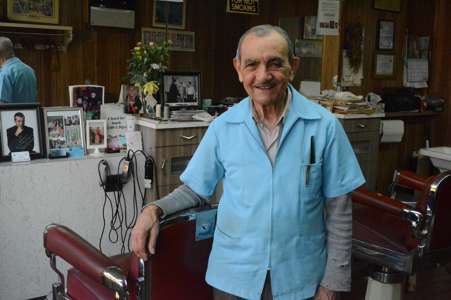Eighty-six-year-old Dominick Neatale, owner of Dominick's Barbershop, is retiring after 53 years of cutting hair in Baldwin.