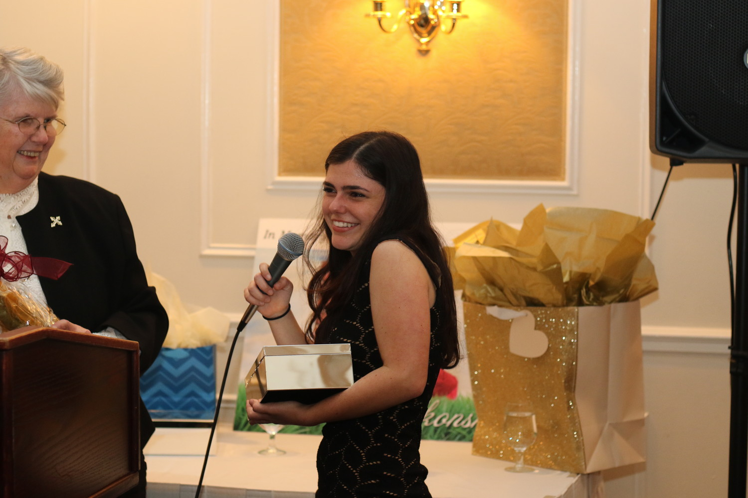 Recent Oceanside High School graduate Alexis Chiofalo was named a Woman of Compassion at Bethany House's fashion show fundraiser for her volunteer work. She is the youngest recipient of the award in the organization's history.