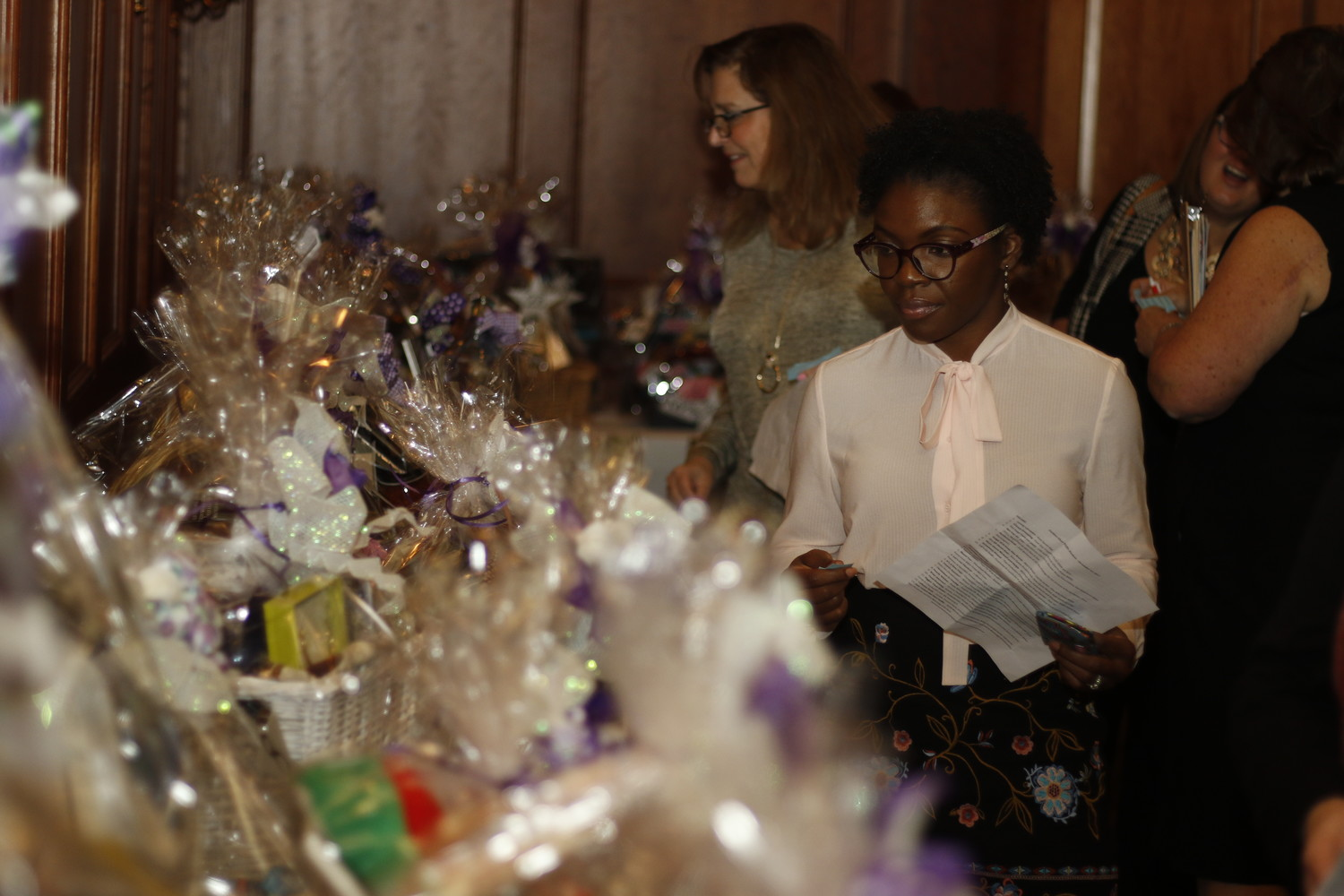 Taneisha Clark, a supporter of the charity, entered a raffle at the fundraiser.