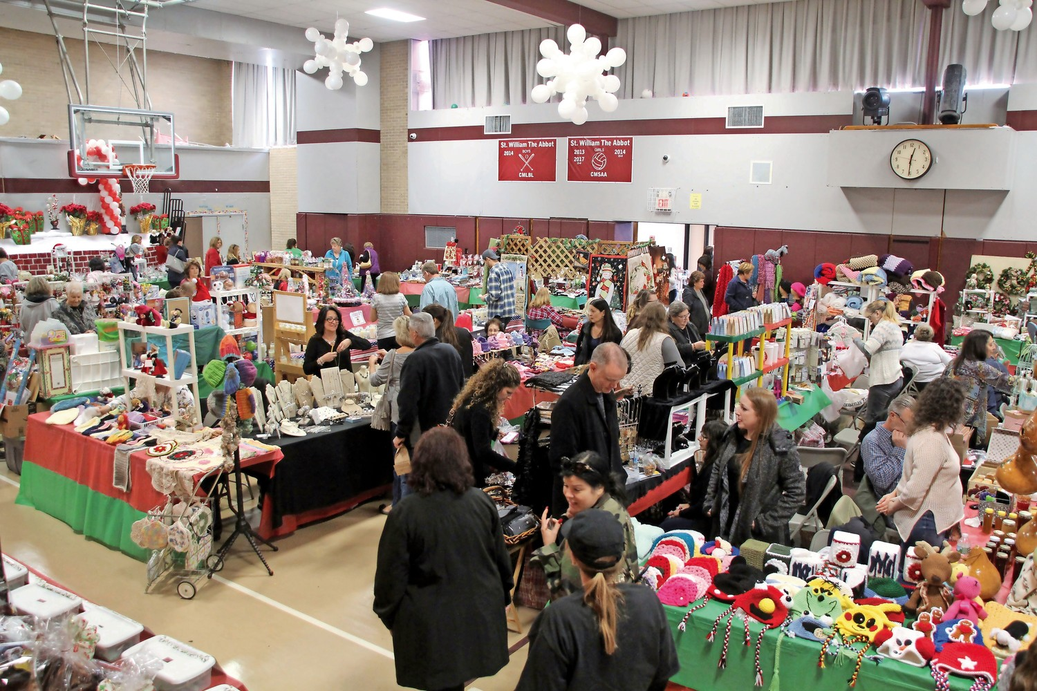 Dozens of people came out to the holiday fair at St. William the Abbot Catholic School last Saturday.