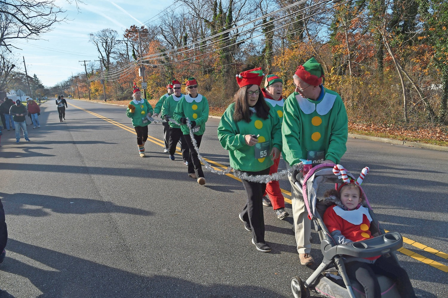 Members of the Seaford Lions Club dressed as elves for the event.
