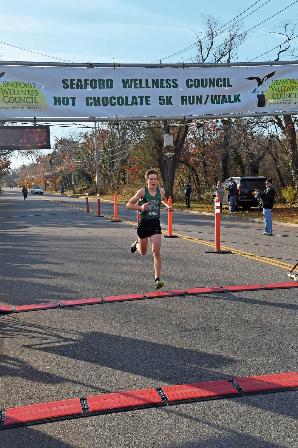 Jason Linzer, 15, of Seaford, earned a first-place award at the Hot Chocolate 5K Run.