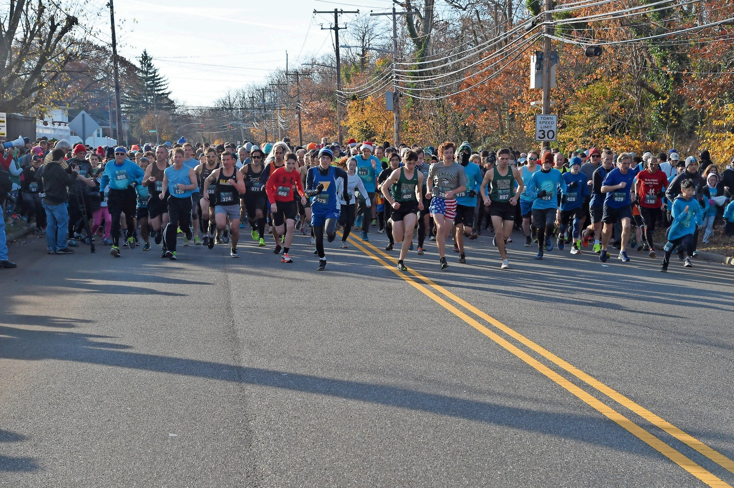 Hundreds of people lined up outside of Seaford High School for the 14th annual Hot Chocolate 5k Run on Dec. 2. The Seaford Wellness Council sponsored the event.