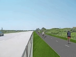 The new 4.5-mile Jones Beach Shared Use Path project is slated for completion in summer 2019.