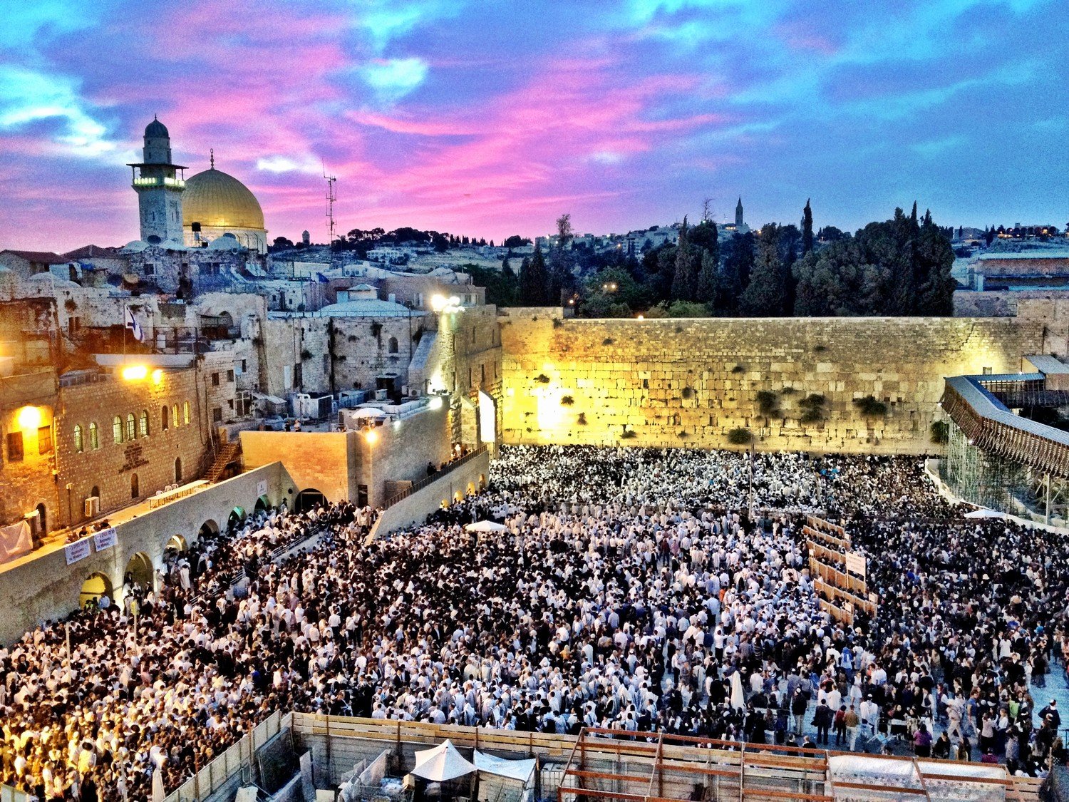 President Donald Trump officially recognized Jerusalem as Israel's capital in a 20-minute announcement on Dec. 6. Above, a gathering at the Western Wall in Jerusalem during the holiday of Shavout in 2012.