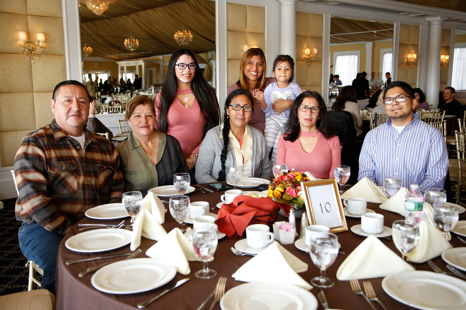 The Acuna, Ruano and Galeano families gathered together for a Thanksgiving meal at the Bridgeview Yacht Club courtesy of owner John Vitale.