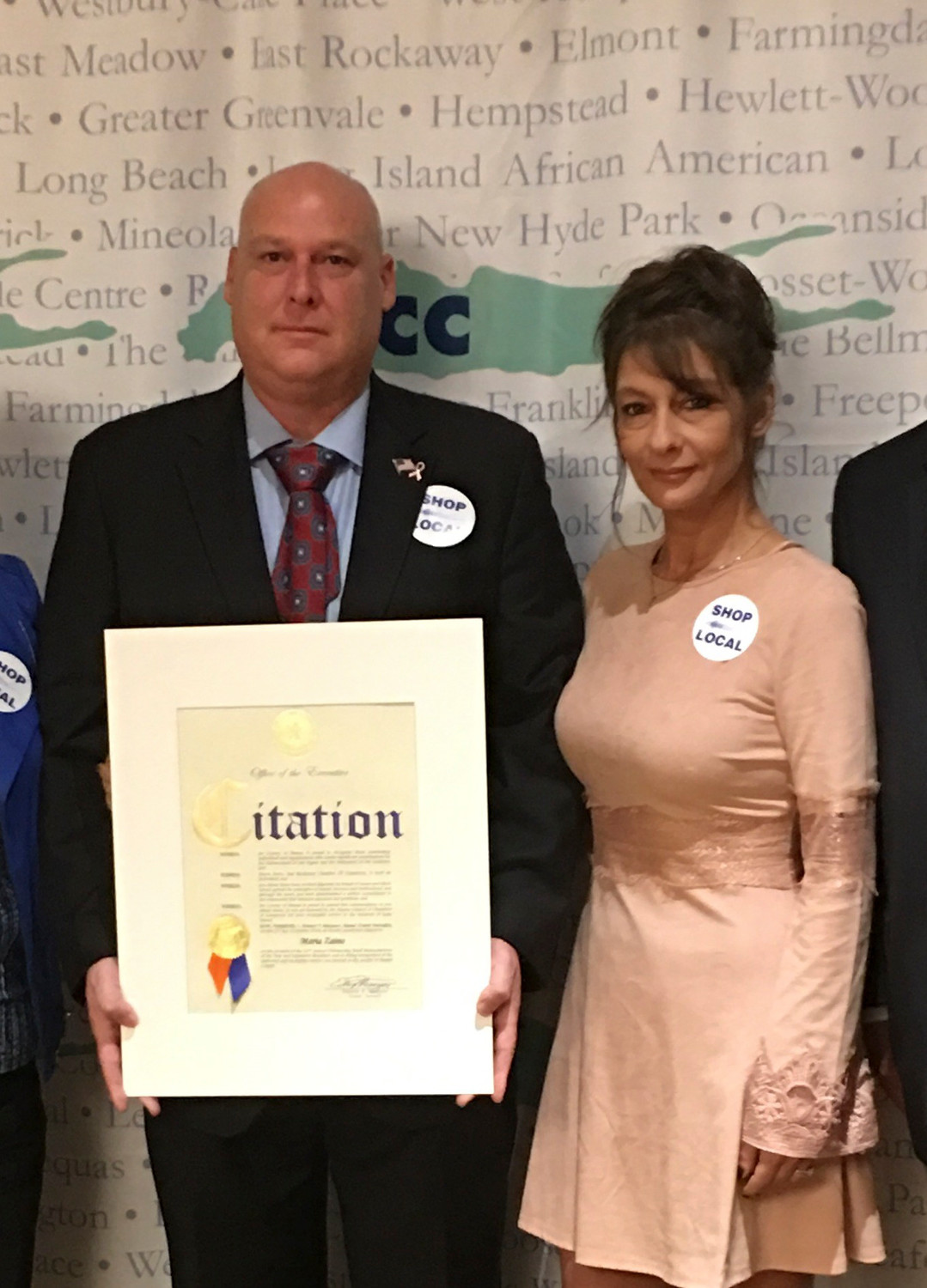 David O'Neill, pictured here with his wife, Claudine, was recognized as Small Businessperson of the Year in 2016 for his work as owner of Village Car Service. He sold the business in October.