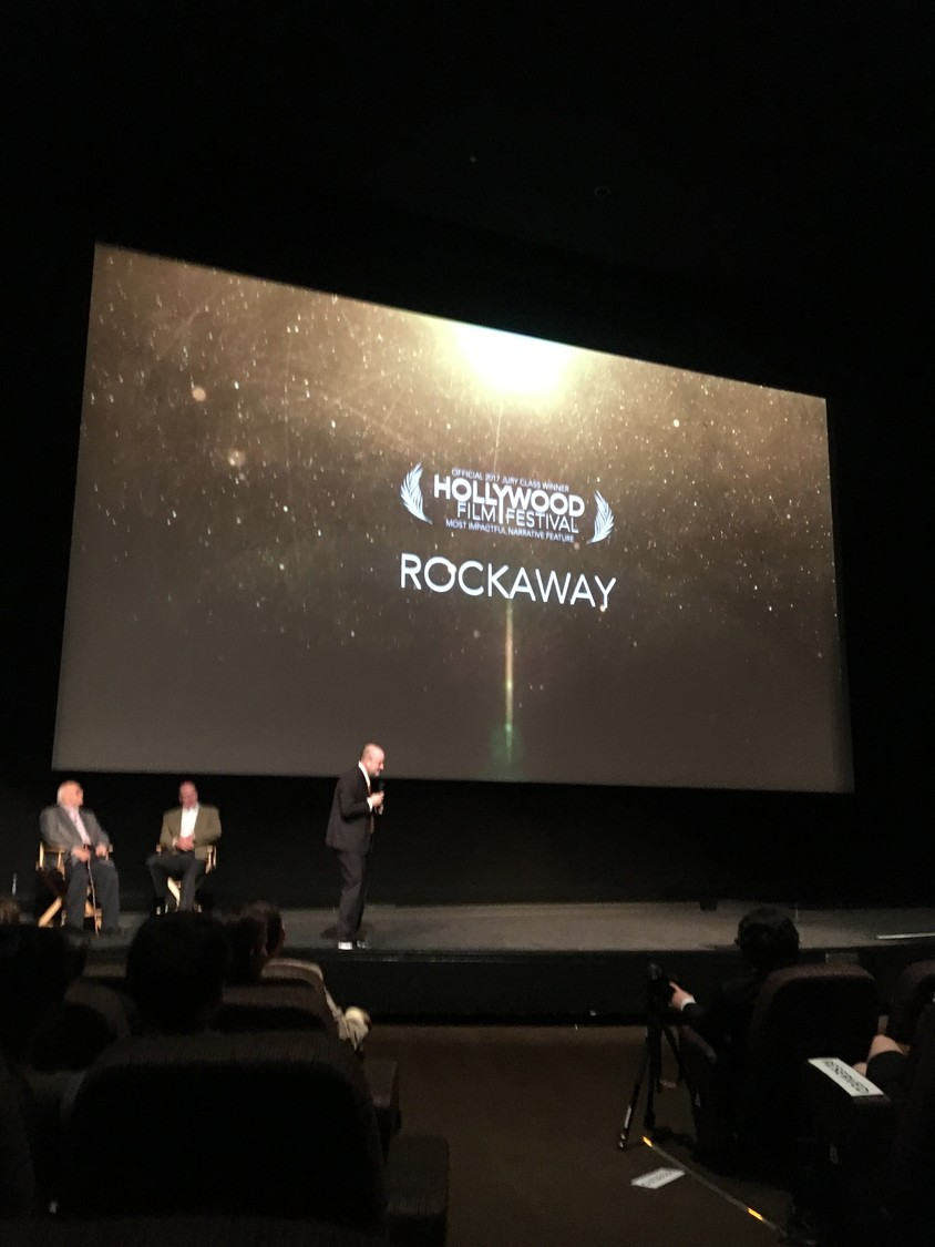 "Local director John J. Budion's film, ""Rockaway,"" about growing up in East Rockaway, won the award for Most Impactful Narrative Film at Paramount Studios in Hollywood in an event leading up to the Hollywood Film Festival."