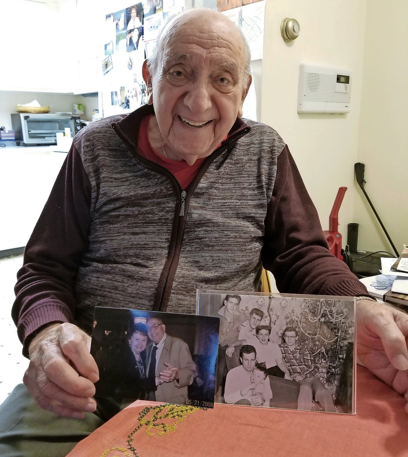 Charlie Franza, 94, reminisced about two women who captured his heart: his first love, Mary, and his wife, Nettie.